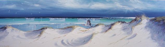 'WHITE SAND BEACH' 1.5x50cm